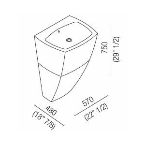 Agape Раковина 750 C