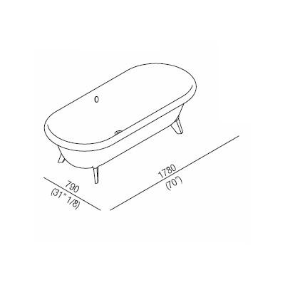 Agape Ванна из искусственного камня Ottocento 178x79x59.5