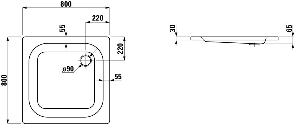 Laufen Душевой поддон 215011