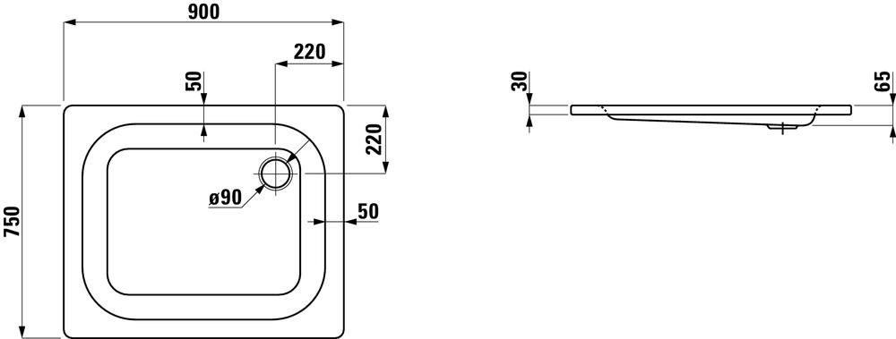 Laufen Душевой поддон 215013