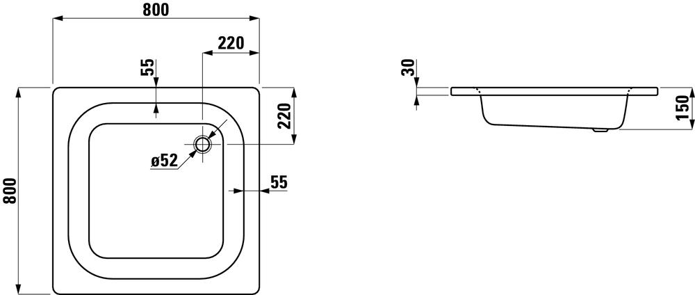 Laufen Душевой поддон 215021