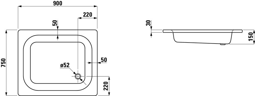 Laufen Душевой поддон 215023