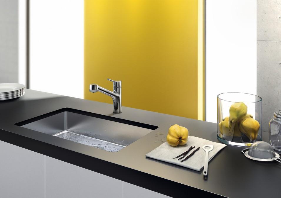 Hansgrohe Talis S Смеситель для кухни, однорычажный, с выдвижным душем, ½'