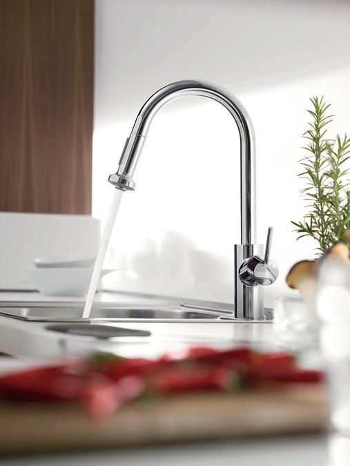 Hansgrohe Talis S² Variarc Cмеситель для кухни Variarc, однорычажный, с выдвижным душем, ½'