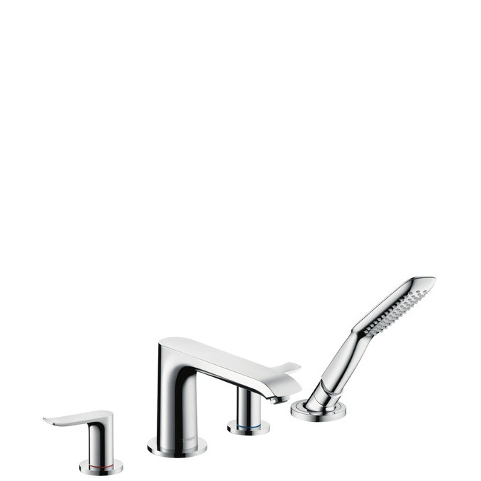 Hansgrohe Metris Смеситель на край ванны, на 4 отверстия, ½'