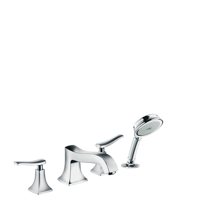Hansgrohe Metris Classic Смеситель на край ванны, на 4 отверстия, ½'