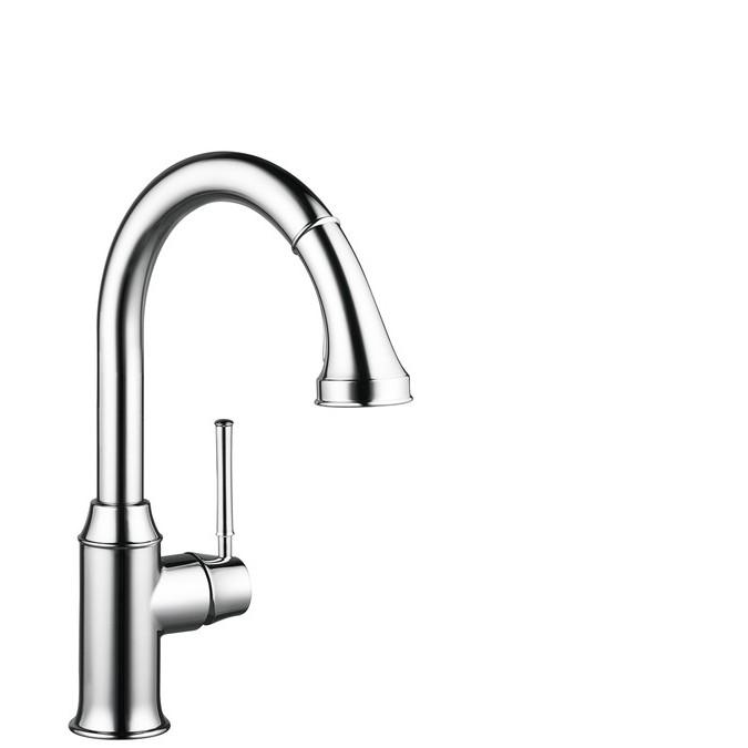 Hansgrohe Talis Classic Смеситель для кухни, однорычажный, с выдвижным душем, ½'