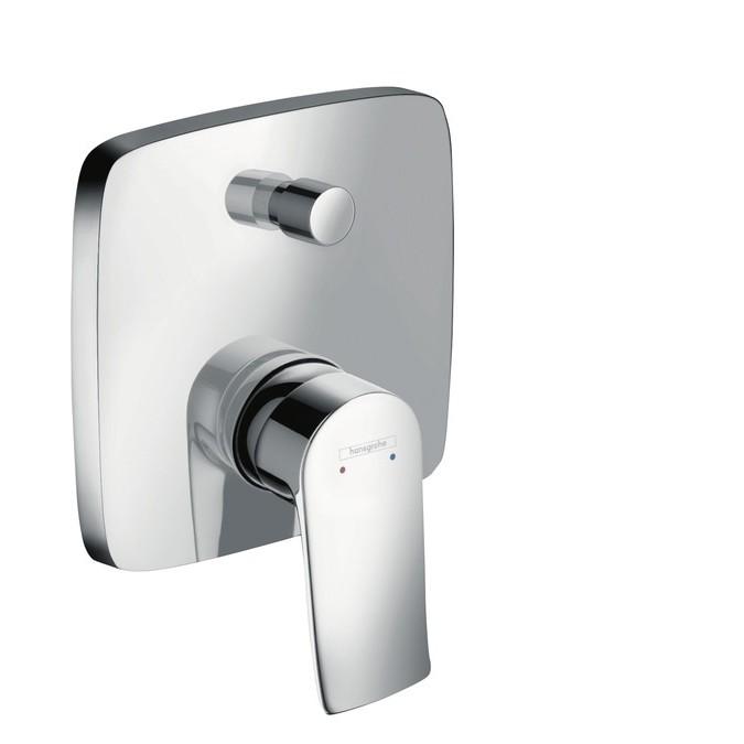 Hansgrohe Metris Смеситель однорычажный для ванны, со встроенной защитной комбинацией, СМ