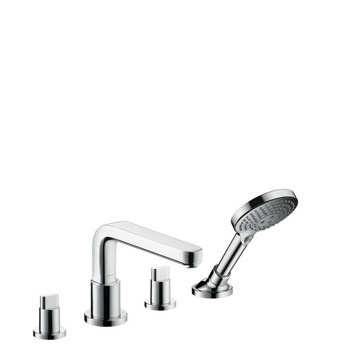 Hansgrohe Metris S Смеситель на край ванны на 4 отверстия, ½', выступ 220 мм