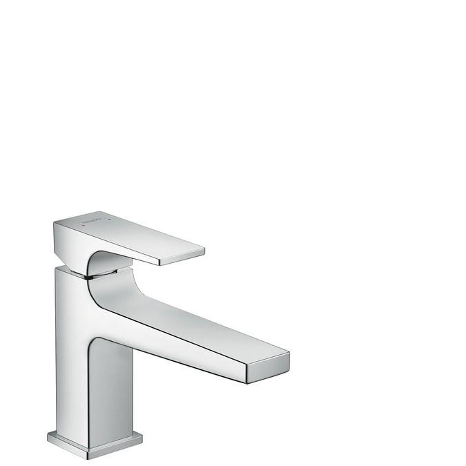 Hansgrohe Metropol Смеситель для раковины 100, однорычажный, с рычаговой рукояткой и сливным клапаном Push-Open