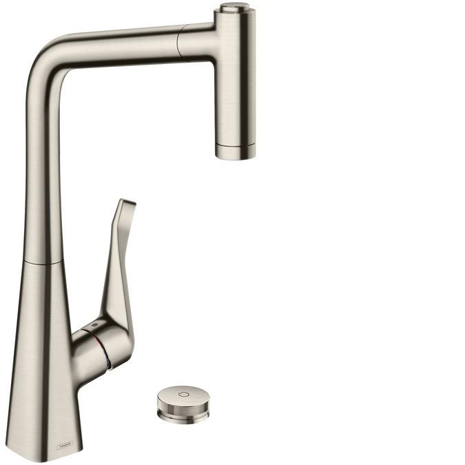 Hansgrohe M71 Смеситель для кухни M7120-H320, на 2 отверстия, с выдвижным душем