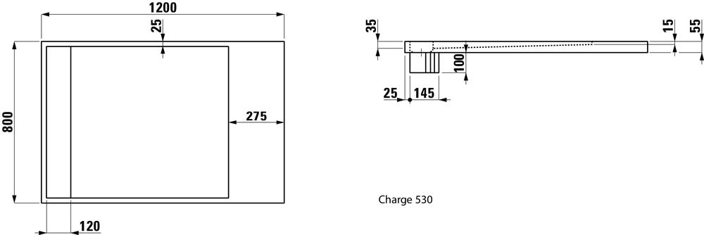 Laufen Душевой поддон, прямоугольный, литьевой мрамор 212333