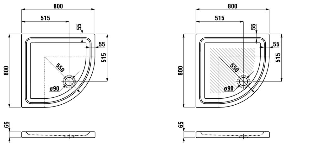 Laufen Душевой поддон керамический 852953