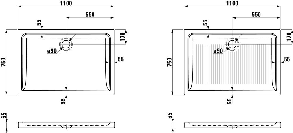 Laufen Душевой поддон керамический 854952