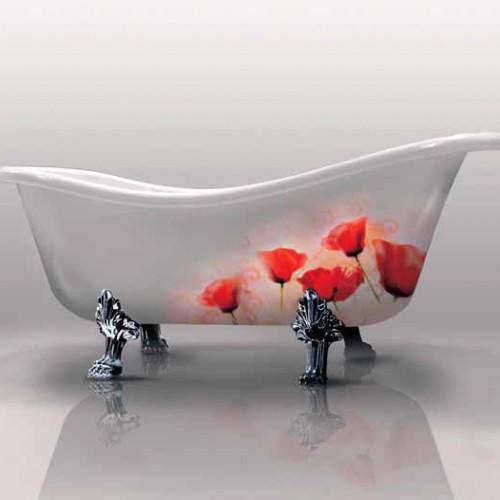 Gruppo Treesse ванна с ножками V5071 Epoca с декором Papaveri