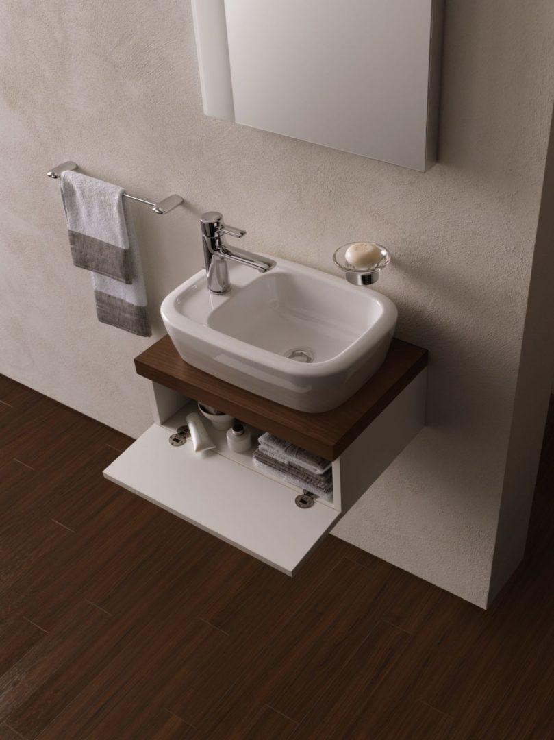 TOTO Накладная раковина для мытья рук 450 мм, с отверстием под смеситель