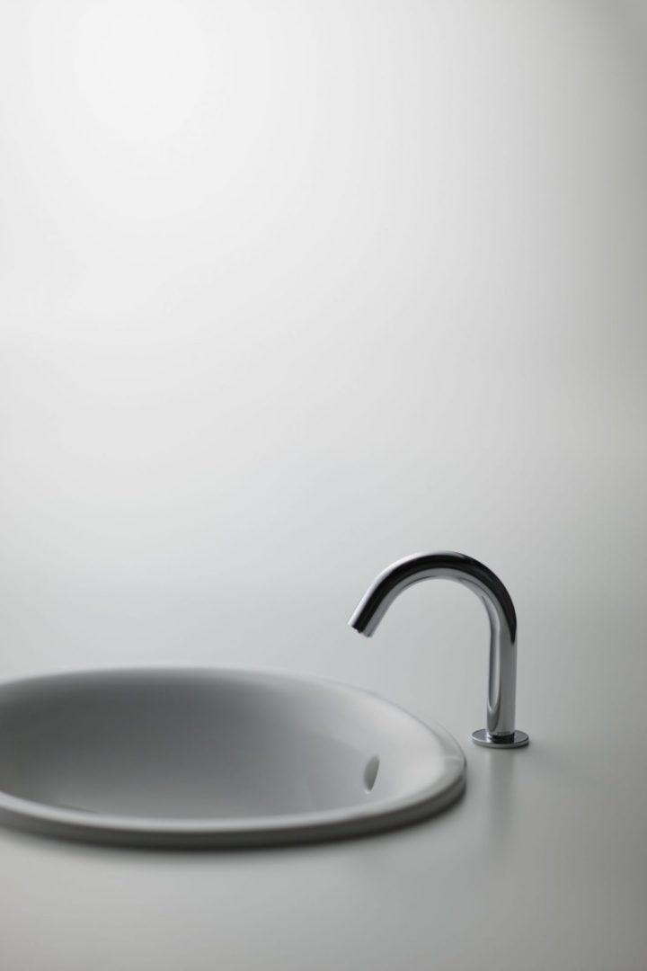 TOTO Полувстраеваемая раковина, круглая 530 мм, с переливом