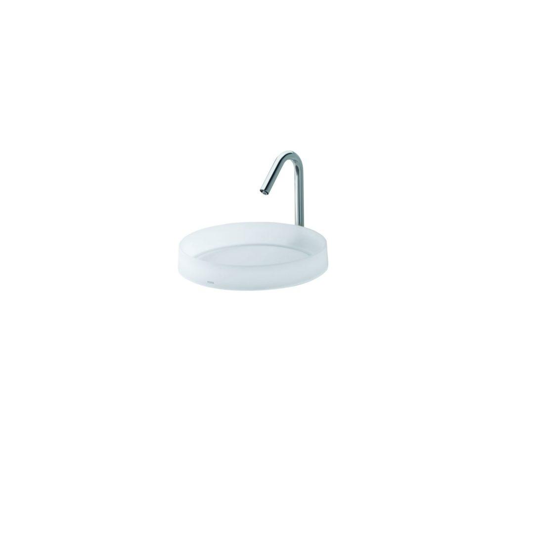 TOTO LUMINIST/Luna Накладная раковина с белым дном и освещением СИД