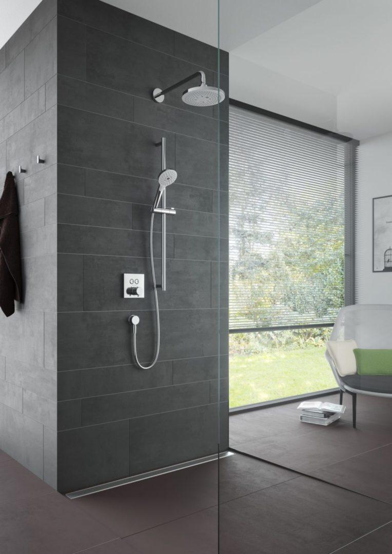 TOTO Верхний душ с 2 видами струй 220 мм прямоугольный, настенный монтаж