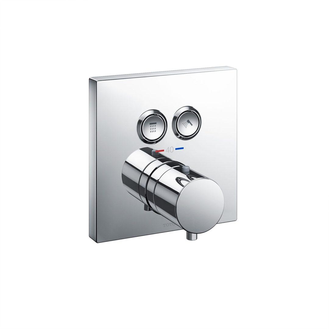 TOTO Термостатический душевой смеситель с 2-у сторонним переключением и функцией запуск/останов скрытого монтажа