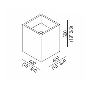 Agape Раковина Cube