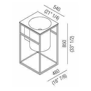 Agape Раковина In-Out с конструкцией из нержавеющей стали