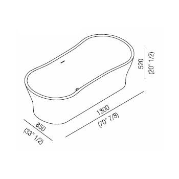 Agape Ванна из искусственного камня Viceversa 180x85x52