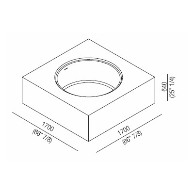 Agape Ванна из искусственного камня In-Out 170x170x64