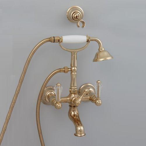 Cisal Arcana Plaza Смеситель для ванны и душа с душевым комплектом, золото