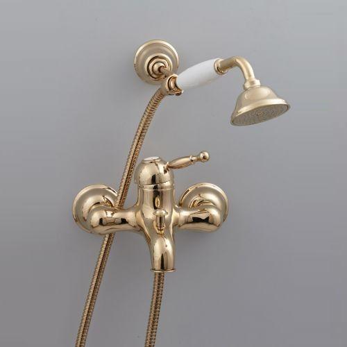 Cisal Arcana Royal Смеситель для ванны и душа, с душевым комплектом, золото