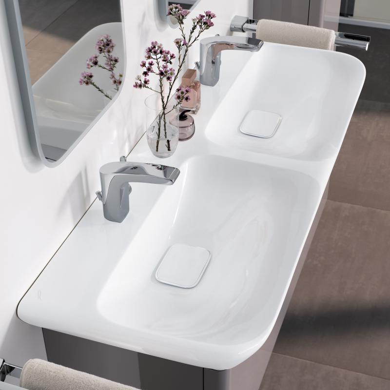 Keramag мебель для ванной комнаты 1300х410х480 мм с двойной раковиной и подсветкой myDay