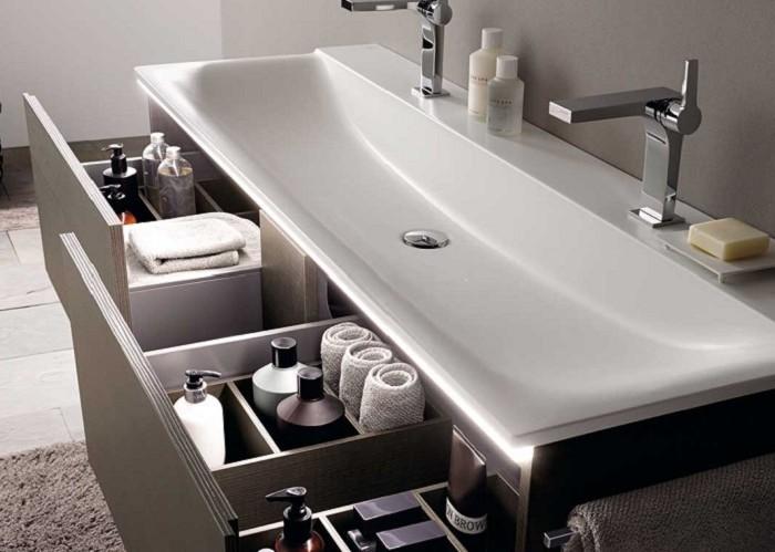 Keramag мебель для ванной комнаты 1600х400х480 мм с 2 ящиками с подсветкой Xeno²