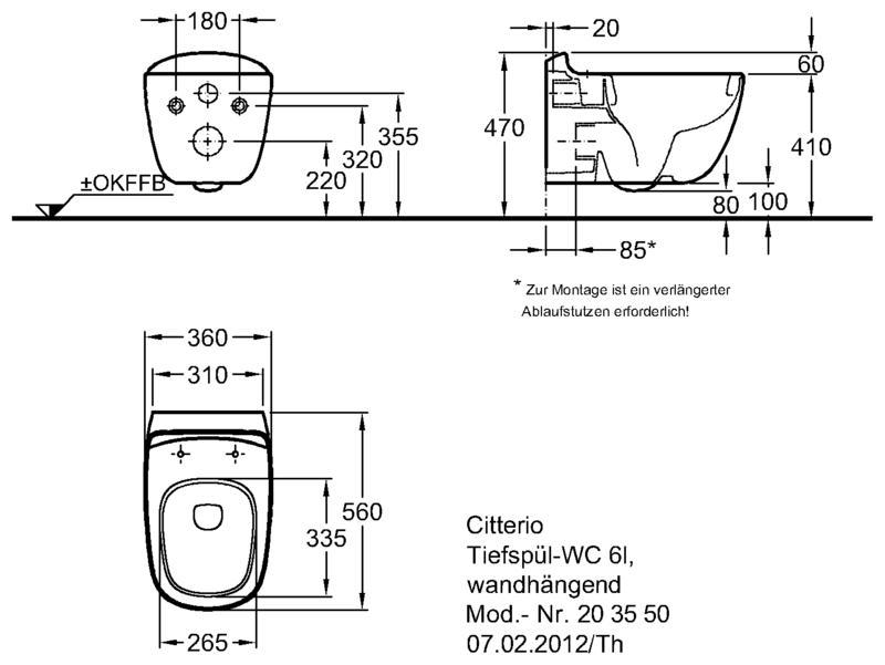 Keramag Citterio безободковый унитаз 360x540x390 мм