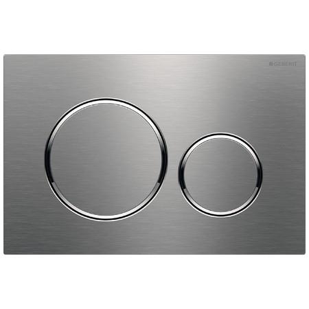 Geberit Sigma20 Смывная клавиша, двойной смыв, Полированная нержавеющая сталь