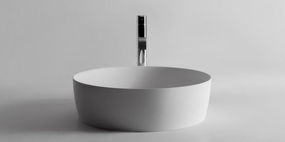 Catino Аntonio Lupi Раковина круглая из материала Flumood, для установки на столешницу 50x15 см
