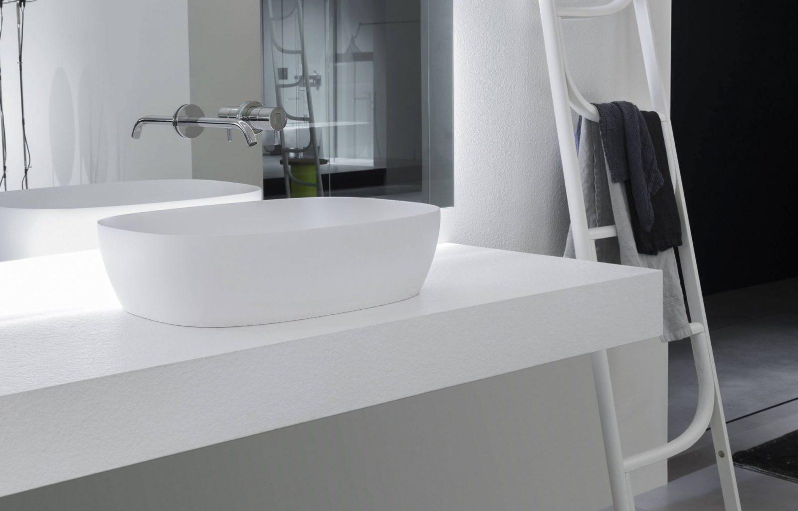 Senso Аntonio Lupi Раковина прямоугольная из материала Flumood, для установки на столешницу 40x60x15 см