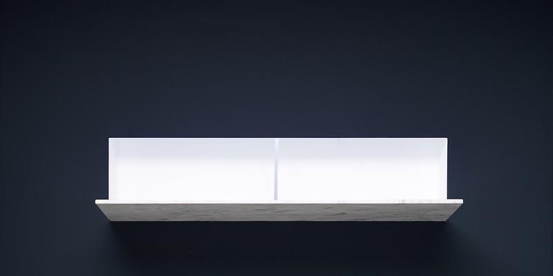 Battigia Antonio Lupi раковина из материала Corian, встраиваемая в стену, со светодиодной подсветкой. Фронтальная панель из экстра-прозрачного или матового стекла 60,7х51,5 х90 см