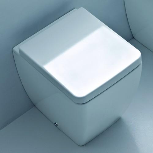 Ego Kerasan унитаз приставной, белый 46 см c сидением с плавным опусканием