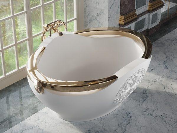 BIANKA Salini S.R.L.  Ванна 1800 x 1370 х 750  мм цвет : Белый